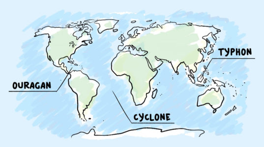 D'où viennent les ouragans cyclones typhons