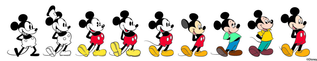Evolution de Mickey Mouse