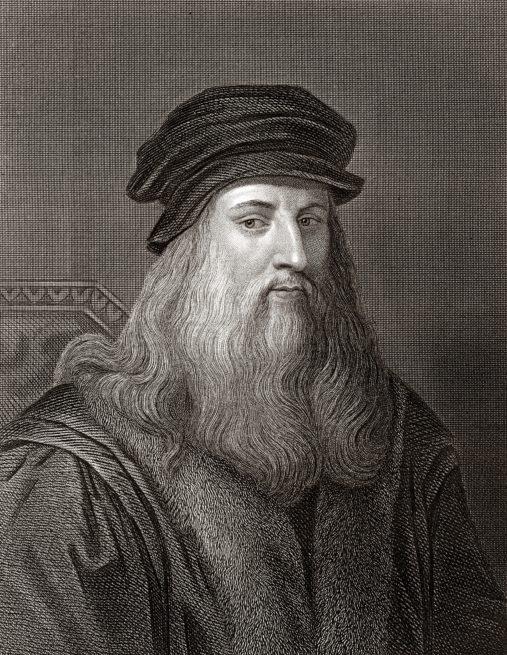 Leonardo da Vinci (Sepia toned)
