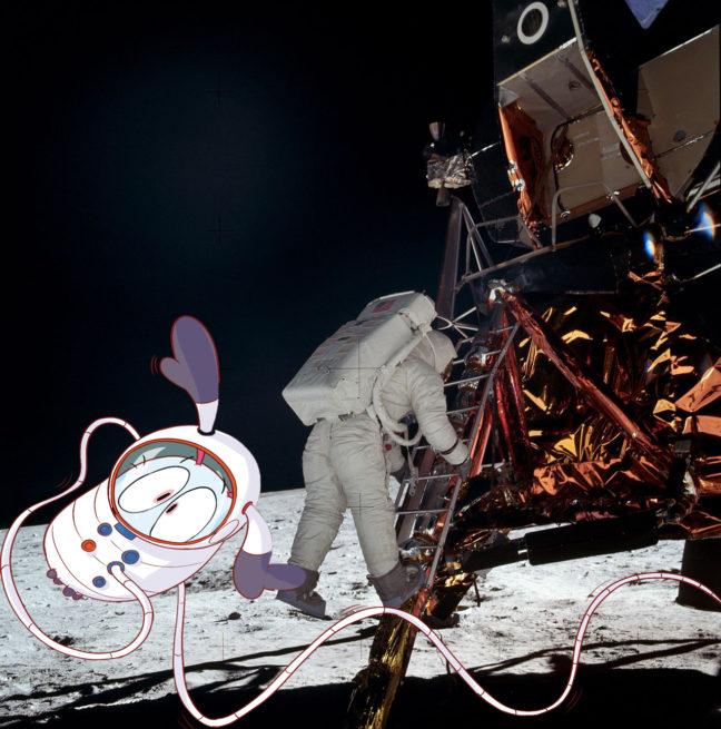 Buzz Aldrin sortant du LEM (Apollo 11)