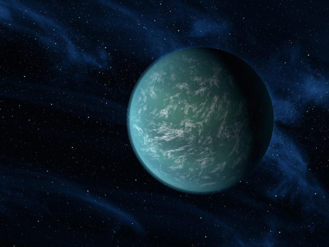 "La ""super-Terre"" Kepler 22-b."