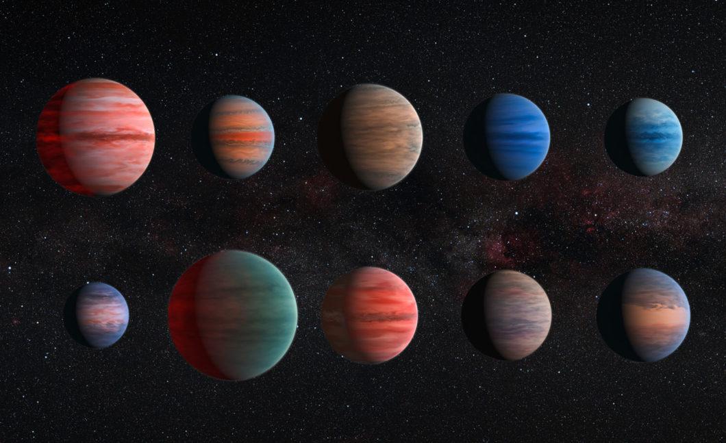 """Vue d'artiste des exoplanètes """"géantes de gaz"""". © NASA/ESA"""