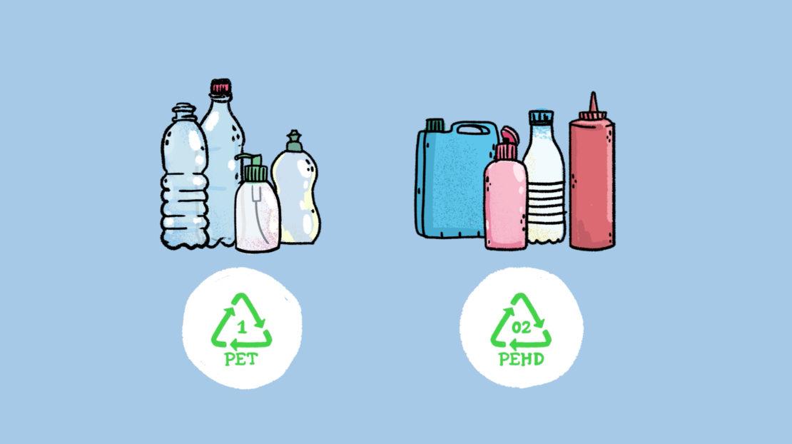 En réalité, on recycle surtout deux types de plastique… et on ne peut les recycler que deux ou trois fois.