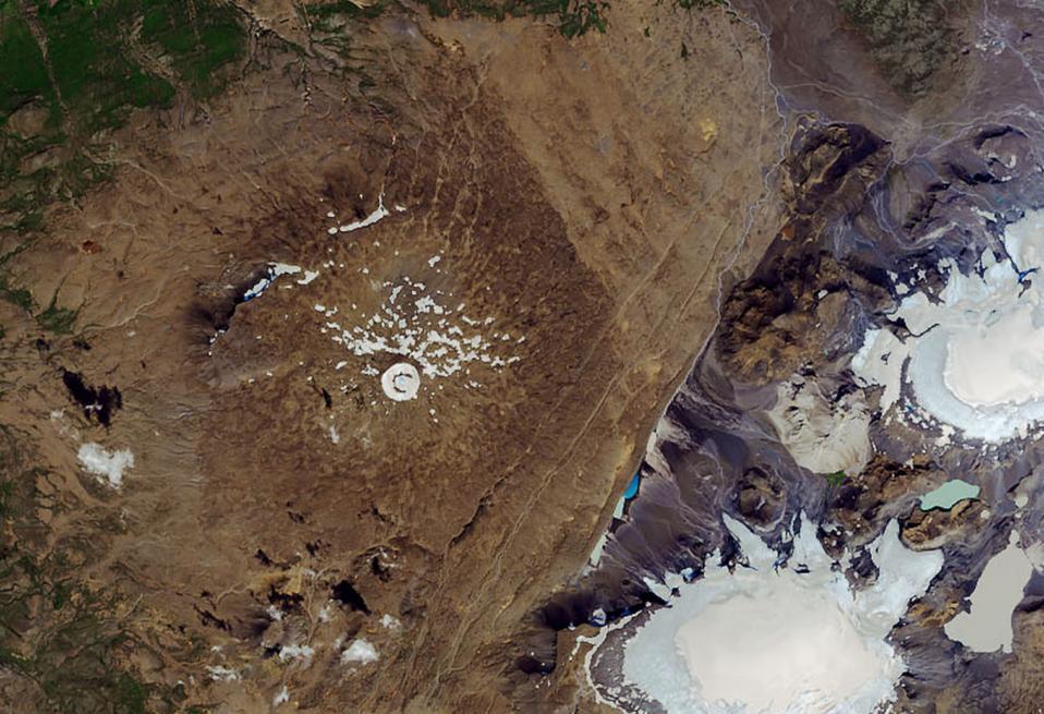 Le glacier islandais, Okjökull, le 1er août 2019 © NASA