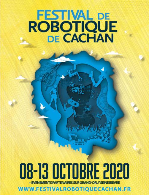 Affiche festival robotique Cachan