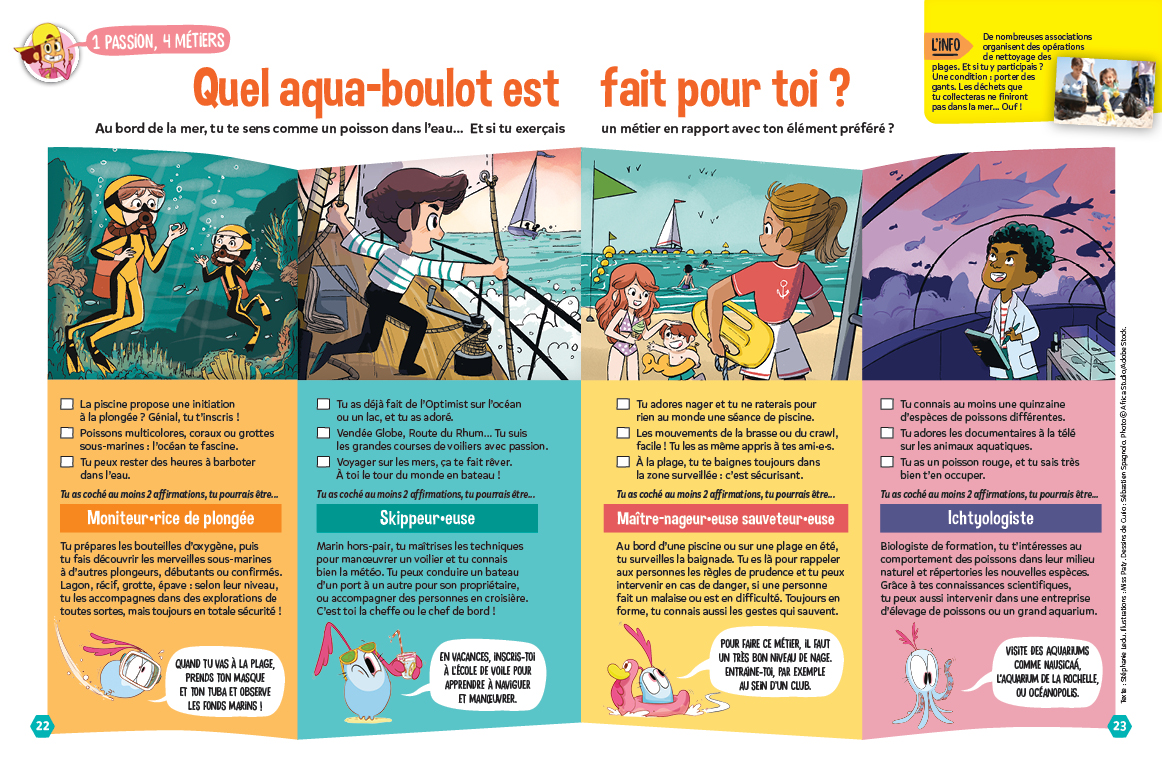 Test métiers de la mer