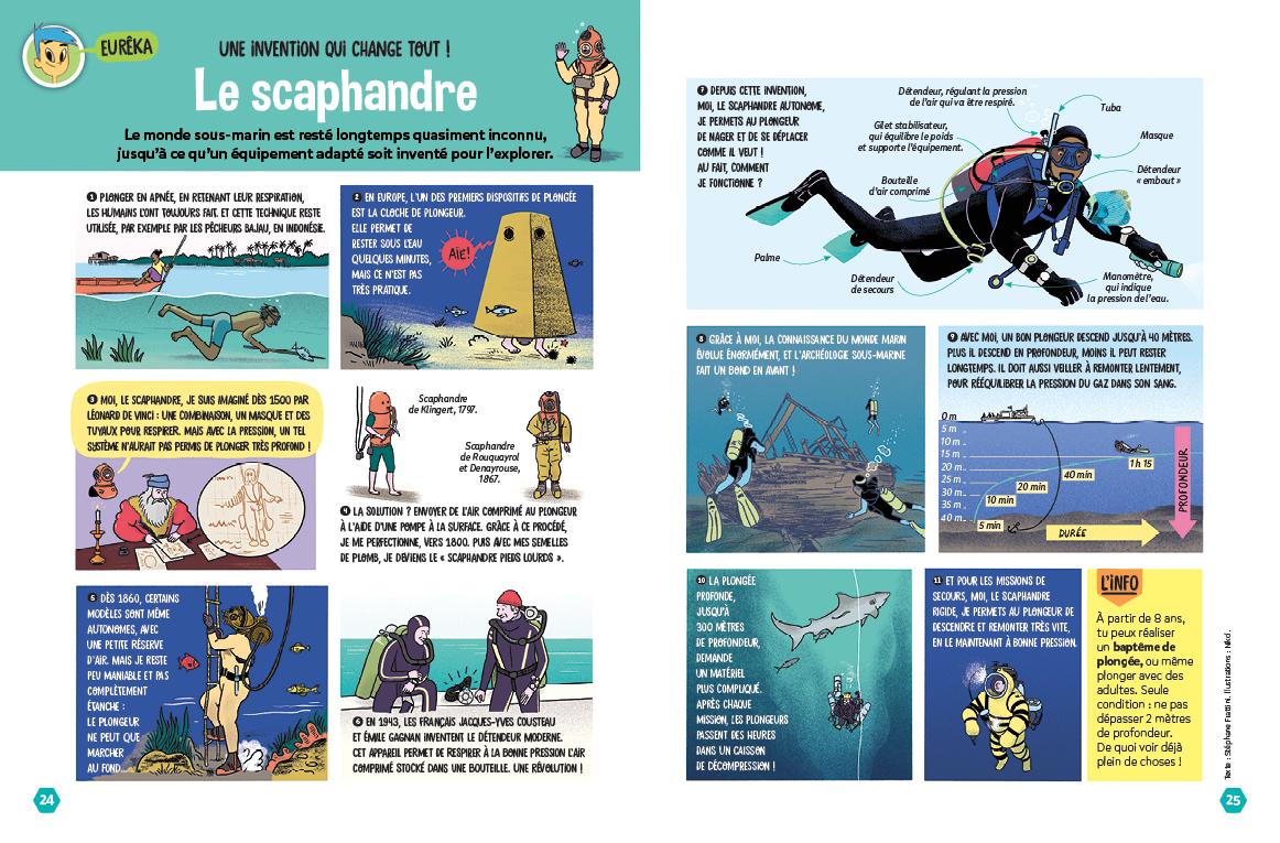 Invention du scaphandre