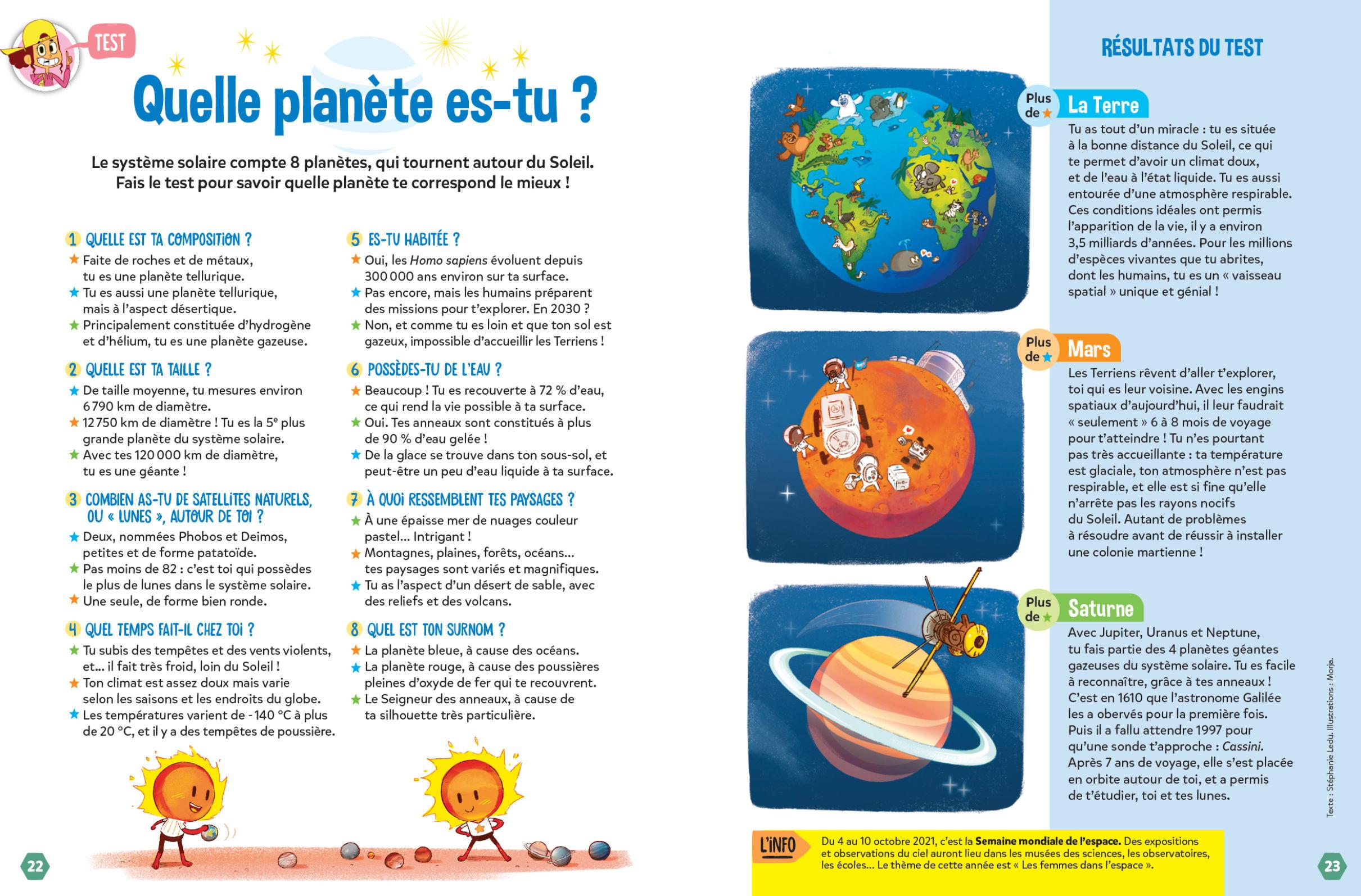 Test planètes